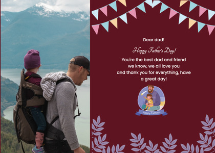 fathersday card 207 poster advertisement