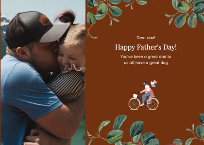 fathersday card 210 bicycle person