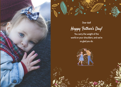 fathersday card 211 poster advertisement