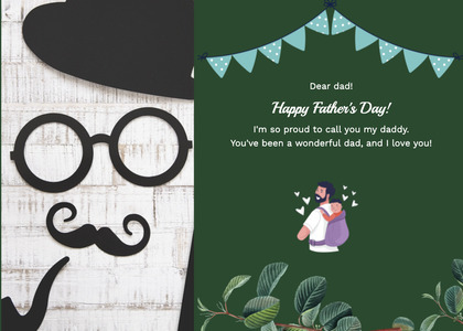 fathersday card 216 advertisement poster