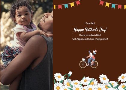 fathersday card 217 bicycle person