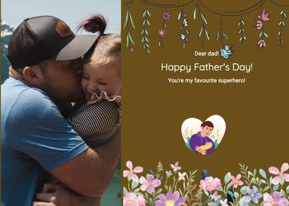 fathersday card 222 person baseballcap