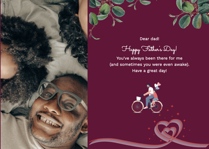 fathersday card 224 bicycle transportation
