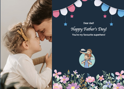 fathersday card 227 person poster