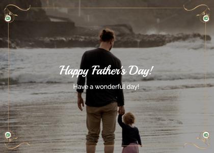 fathersday card 230 person sea