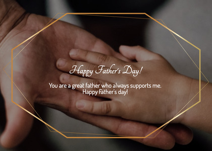 fathersday card 235 hand person