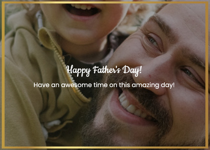 fathersday card 239 smile face