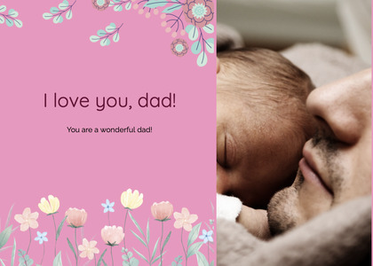 fathersday card 295 sleeping asleep