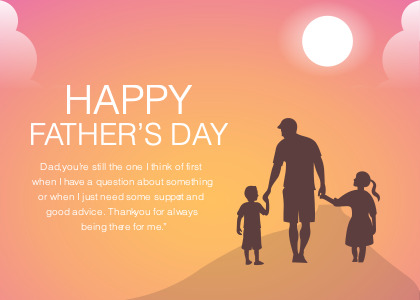 fathersday card 3 person people
