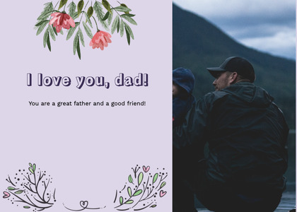 fathersday card 305 clothing person