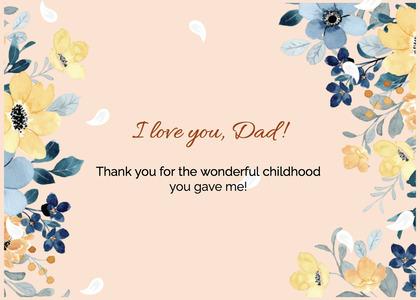 fathersday card 317 envelope floraldesign