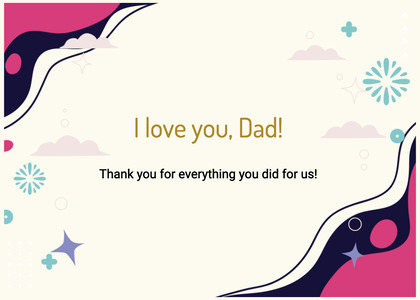 fathersday card 324 animal text
