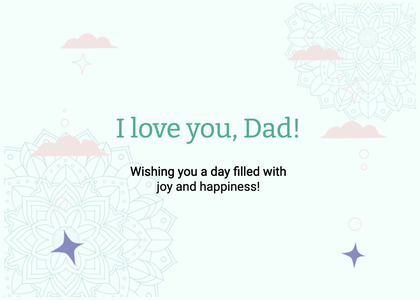 fathersday card 335 text paper