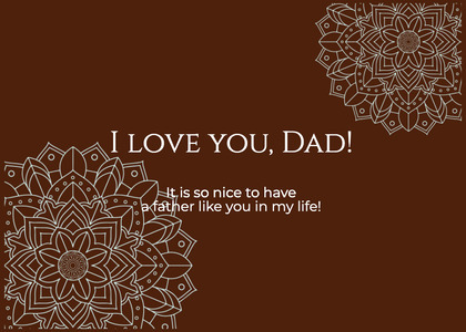 fathersday card 35 text pattern