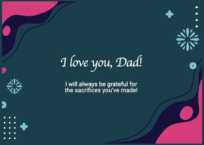 fathersday card 6 business card text