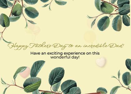 fathersday card 75 leaf plant