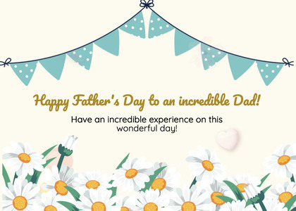 fathersday card 80 paper flyer