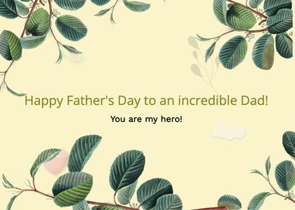 fathersday card 83 leaf plant
