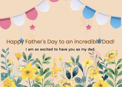 fathersday card 84 floraldesign art