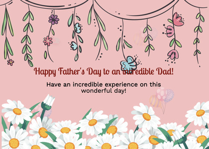 fathersday card 85 plant flower