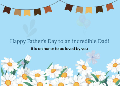 fathersday card 86 daisy daisies