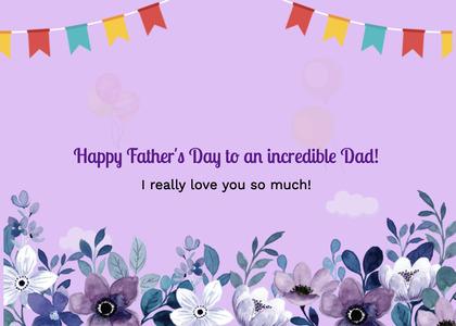 fathersday card 87 purple plant