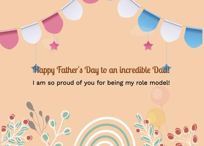 fathersday card 89 floraldesign pattern