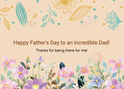 fathersday card 98 floraldesign graphics