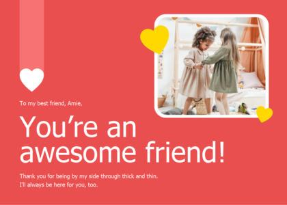 friendship card 13 person human