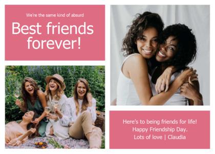 friendship card 15 person advertisement