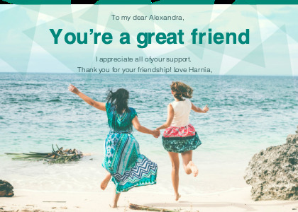 friendship card 2 person clothing