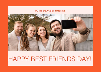 friendship card 3 person face