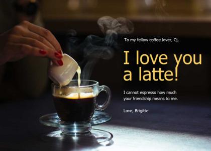 friendship card 7 coffeecup cup