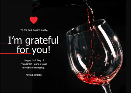 friendship card 8 wine alcohol
