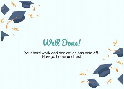 graduate card 102 graduation text