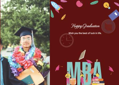 graduate card 111 person poster