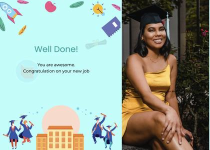 graduate card 22 person human