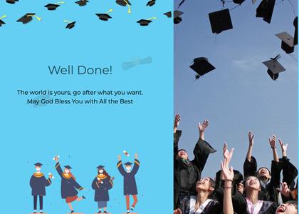 graduate card 25 graduation person