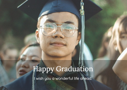 graduate card 69 person human