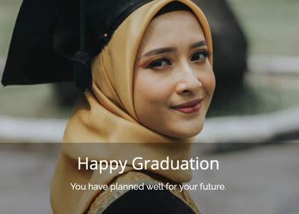graduate card 71 face person