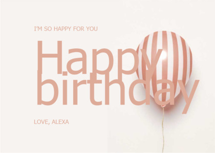 greetings card 7 ball balloon