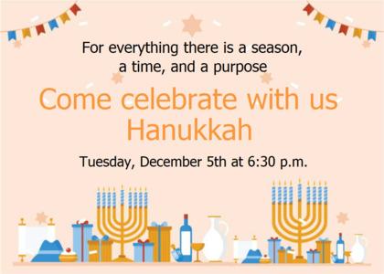 hanukkah card 10 flyer paper