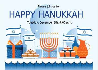 hanukkah card 11 flyer advertisement