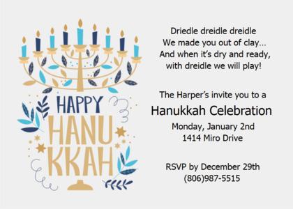 hanukkah card 15 text flyer
