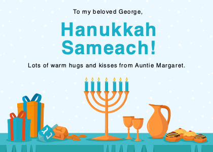 hanukkah card 2 flyer poster
