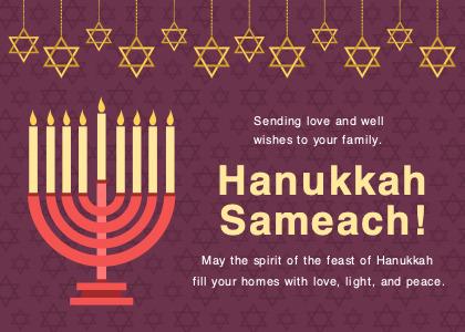 hanukkah card 3 flyer poster
