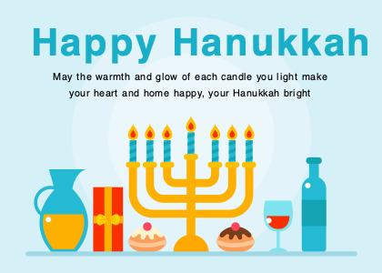 hanukkah card 4 flyer advertisement