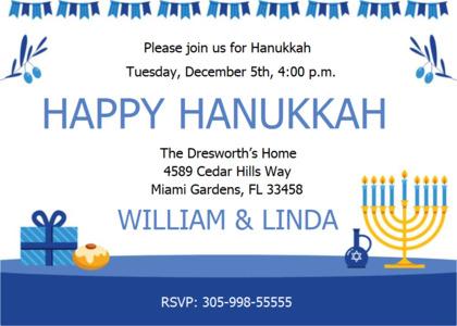 hanukkah card 6 advertisement poster