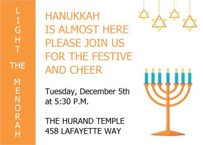 hanukkah card 7 flyer paper