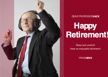 happyretirement card 1 tie person
